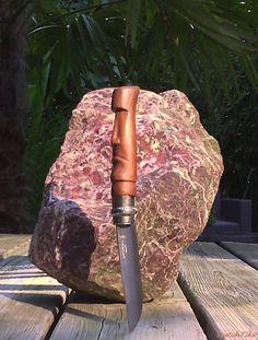 Opinel knife (No. 8) Modified/custom. (Tiki/Moai handle)