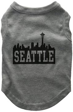 Mirage Pet Products 12-Inch Seattle Skyline Screen Print Shirt for Pets, Medium, Grey * Be sure to check out this awesome product. (This is an affiliate link and I receive a commission for the sales)