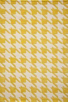 Yellow Delhi Houndstooth Rug