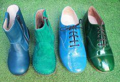 Aqua du BLEU au VERT  Chaussures Pèpè