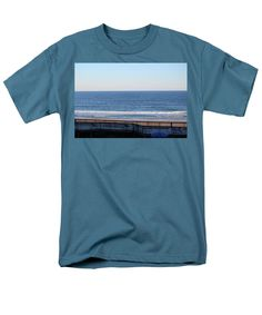 Coast Men's T-Shirt (Regular Fit) featuring the photograph View From Hotel by Cynthia Guinn