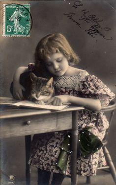 Grete with cat