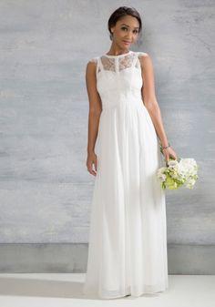 vestido de noiva barato de modcloth online com decote e costas em renda 1 - 250