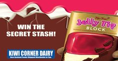 It's sold out throughout New Zealand but Kiwi Corner Dairy has a Secret Stash and three Kiwi expat's will win a block of Whittaker's Jelly Tip Chocolate delivered anywhere in the world.