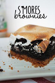 Recipe: S'mores Brownies #smores #brownies #dessert omg Pinterest has so many options @Kayla Barkett Barkett Barkett Brahler