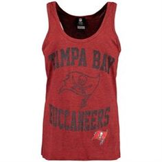 Tampa Bay Buccaneers Women's End Around Tank Top - Red