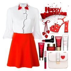 """""""HAPPY VALENTINES"""" by tiziana-melera ❤ liked on Polyvore featuring VIVETTA, Yves Saint Laurent, Clarins and Rimmel"""