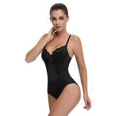 28c7c7d8b66d1 Wechery New Sexy lace Body Shaper Waist Trainer Bodysuit for Women Slimming  Underwear Full overbust Body Shapewear Modeling