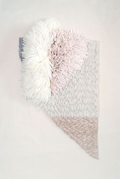 cavecollective:  Fiber Wall Abstract | Cat Lauigan of Cave Collective | 2015Woven with merino wool, cotton strips dyed in dyed avocado pits and skins, walnut hulls, logdwood and madder root. Available at CPCM