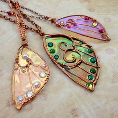 Fabulous butterfly pendants!