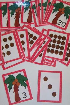 Chicka Chicka 123 number matching cards- good for subitizing.