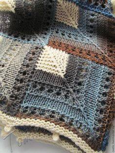 Knitted Afghans, Tunisian Crochet, Knitted Blankets, Knit Crochet, Loom Knitting, Knitting Socks, Knitting Stitches, Knitting Patterns Free, Holiday Crochet Patterns