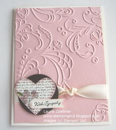 Laurie's Stampin' Spot: Punch Potpourri: Sympathy Card