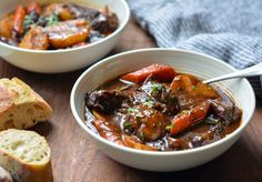 Beef Stew with Carrots & Potatoes Crock Pot Recipes, Beef Recipes For Dinner, Cooking Recipes, Healthy Recipes, Meat Recipes, Online Recipes, Simple Recipes, Crockpot Meals, Healthy Food