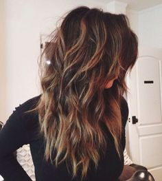 60 beautiful long shag hairstyles for an effortlessly stylish look, Long Shag haircut for thick hair . Long Shag Hairstyles, Long Shag Haircut, Long Layered Haircuts, Haircut For Thick Hair, Long Hair Cuts, Straight Hairstyles, Cool Hairstyles, Shaggy Hair, Wedding Hairstyles