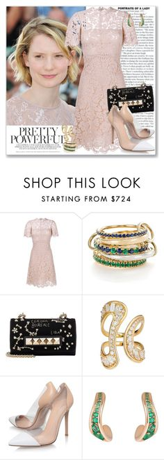 """""""Girl of the Moment: Mia Wasikowska"""" by coraline-marie ❤ liked on Polyvore featuring Valentino, SPINELLI KILCOLLIN, Fernando Jorge and Gianvito Rossi"""