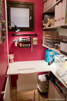 Tiny craft space but still full Of crafty ideas