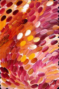 gloria petyarre. I love aboriginal art. her color build up is amazing.