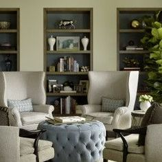 Conversation corner - love this look for a formal living room.