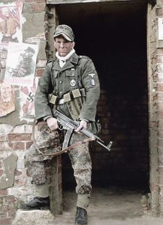 A French Soldier from the Waffen-SS Charlemagne Regiment during the Battle of Berlin, – April 23rd, 1945 (574×792)