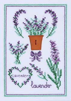 Lavanda Wedding Cross Stitch, Beaded Cross Stitch, Cross Stitch Rose, Cross Stitch Flowers, Cross Stitch Embroidery, Hand Embroidery, Cross Stitch Cards, Cross Stitch Borders, Cross Stitch Kits