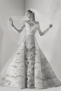 Elie Saab Fall 2019 Couture Fashion Show - Vogue Most Beautiful Wedding Dresses, Fall Wedding Dresses, Bridal Dresses, Wedding Gowns, Elie Saab Bridal, Bridal Collection, Dress Collection, Couture Collection, Elie Saab Spring