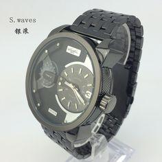 Marca relógio de pulso relógio de quartzo 2 filmes DZ American Men Casual  exército moda de aço inoxidável Masculino Relogio Reloj em Casual Watches de  ... d134a5c6d5a