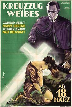 Austrian poster, KREUZZUG DES WEIBES (THE WOMAN'S CRUSADE ) 1928, Germany