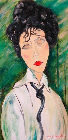 Ritratto di Mary Elizabeth di Amedeo Modigliani                                                                                                                                                                                 More
