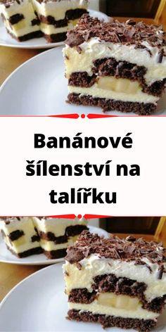 Tiramisu, Cheesecake, Sweets, Ethnic Recipes, Banana Cream, Sweet Desserts, Chocolate, Vanilla Cream, Cacao Powder
