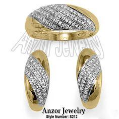 Russian Style Diamond Earrings #jewelry