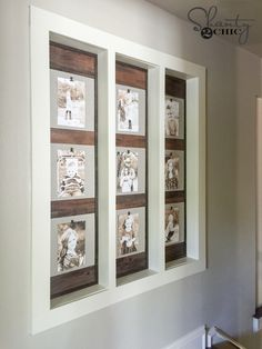 DIY Wood Photo Gallery Wall