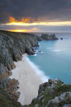 Porhcurono ~ a small village covering a small valley and beach in south Cornwall, England ~ETS Best Of Wales, Places To Travel, Places To See, Places Around The World, Around The Worlds, Beautiful Beaches, Beautiful Landscapes, Beautiful World, Wonders Of The World