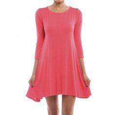 Hourglass Lilly 3/4 Sleeve Dress