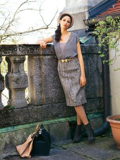 Two-Look Dress - I may have to try to make this!!!  Burda pattern #126A