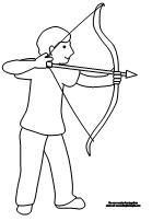 Summer Olypmics: Archery. Archery coloring page from MakingLearningFun.com.