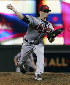 NL loses All-Star game, and World Series advantage - National League pitcher Craig Kimbrel, of the Atlanta Braves, throws during the seventh inning of the MLB All-Star baseball game, Tuesday, July 15, 2014, in Minneapolis. (AP Photo/Jim Mone)