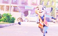 Officer Judy Hopps of the Zootopia Police Department Old Disney, Disney Love, Disney Pixar, Zootopia Gif, Officer Judy Hopps, In Theaters Now, Disney Icons, Nick And Judy, Sword In The Stone