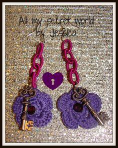 orecchini catena seta   key