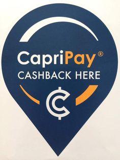 Capri Pay Cashback Sticker