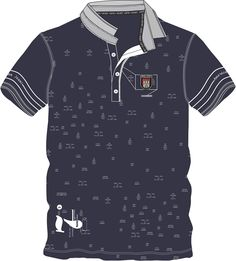 Mens Hipster Compass Embroidery Polo Shirts Embroidered Shirts Mens Polo T-Shirt