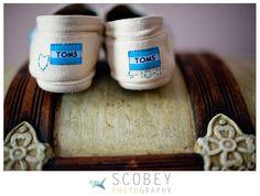Wedding Stitched Toms <3