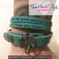 """""""Absolutely LOVE my bracelet!! Just got it in today!! Can't wait to order another! Only thing I noticed is its a little itchy, but I'm assuming that will wear off with time :D thank you so much!!"""" - Macey Smith"""