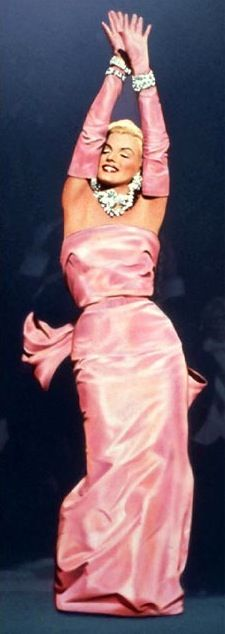 Marilyn Monroe's pink gown in 'Gentlemen Prefer Blondes' (1953). Costume Designer: Travilla