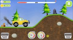 Offroad Jeep Racing On Hill