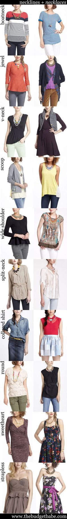 How to Choose the Right Necklace for Different Necklines: A Visual Guide - The Budget Babe my-style Fashion 101, Look Fashion, Womens Fashion, Fashion Details, Fashion Outfits, Necklace For Neckline, Necklace Lengths, New Mode, Looks Style