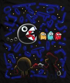 Pac man ft. Mario