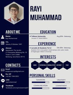 Example of a Creative CV- Contoh CV Kreatif Example of a Creative CV - Beispiel eines krea Creative Cv Template Free, Free Cv Template Word, Job Resume Template, Resume Design Template, Simple Cv Template, Cv Pdf, Cv Simple, Simple Resume, Curriculum Vitae Template
