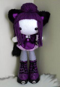 Kawaii and cute Kawaii Shop, Kawaii Cute, Kawaii Doll, Kawaii Stuff, Felt Dolls, Plush Dolls, Rag Dolls, Chica Punk, Felt Crafts