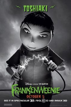 Toshiaki in Frankenweenie by Tim Burton 10.05.12 #frankenweenie #timburton #animation